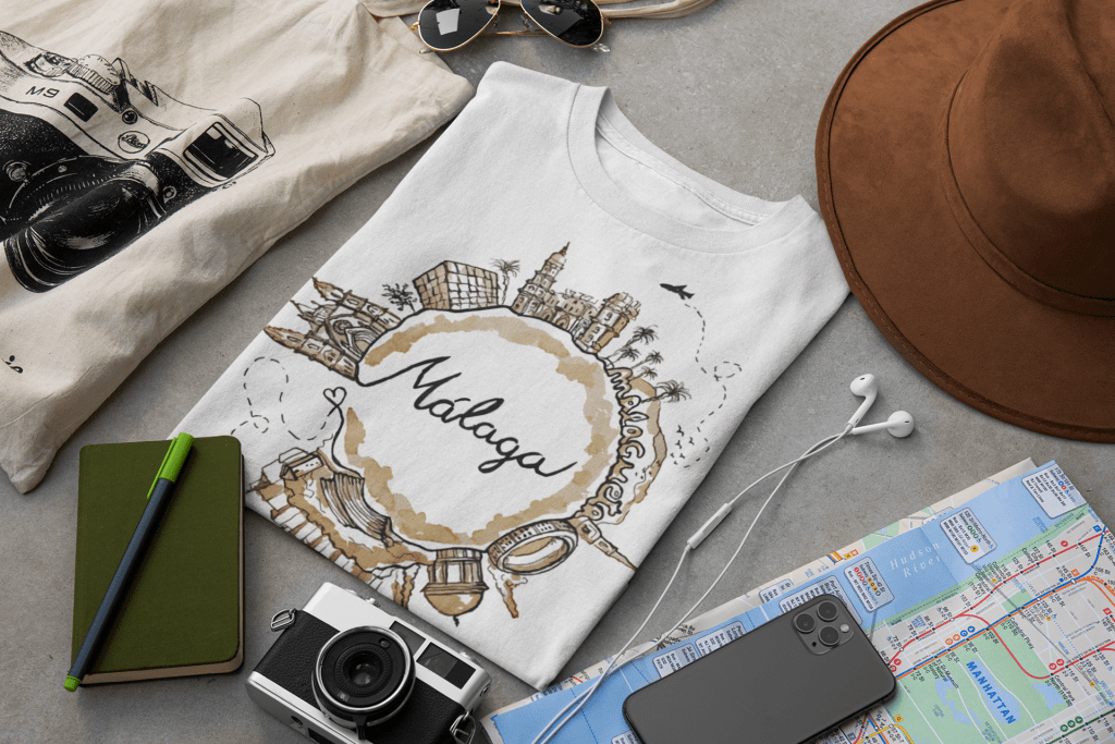 Clothing and print collection of Spanish popular destinations 2